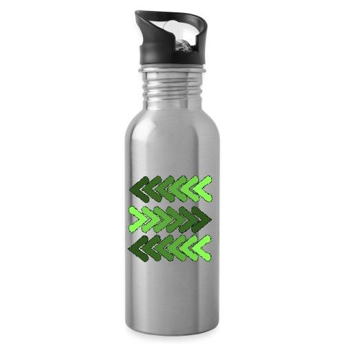Pfeile - Trinkflasche mit integriertem Trinkhalm