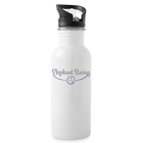 Elephant Swing Logo - Trinkflasche mit integriertem Trinkhalm