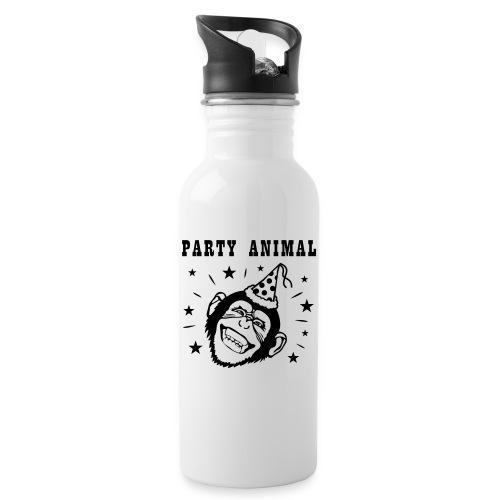 Party Monkey - Drinkfles met geïntegreerd rietje