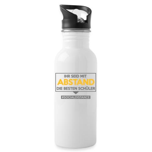 Ihr seid mit ABSTAND die besten Schüler. sdShirt - Trinkflasche mit integriertem Trinkhalm
