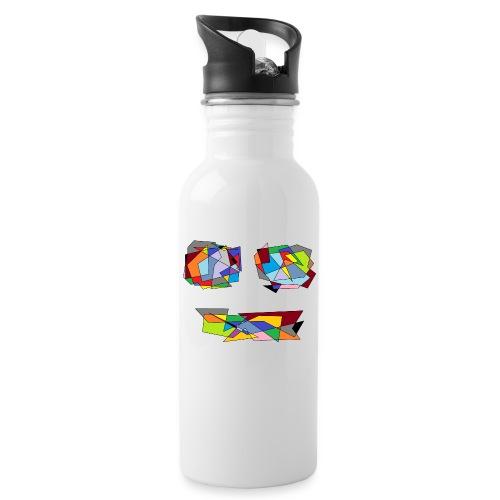 TheFace - Trinkflasche mit integriertem Trinkhalm