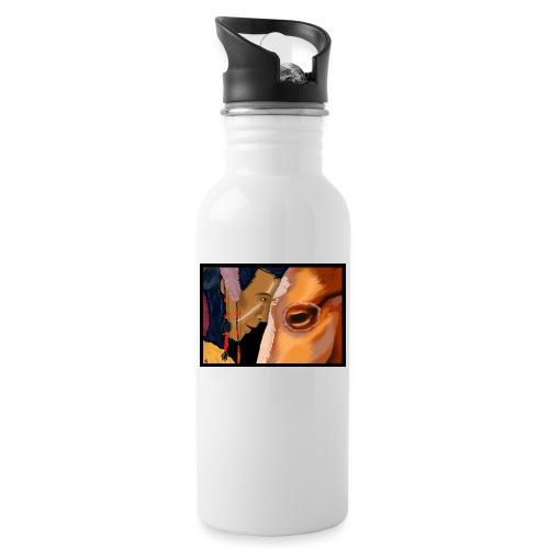 Man and Horse - Drinkfles met geïntegreerd rietje