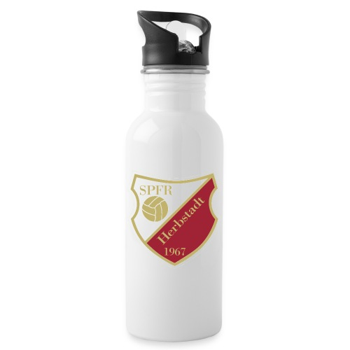 Sportfreunde Herbstadt Wappen GOLD gif - Trinkflasche mit integriertem Trinkhalm