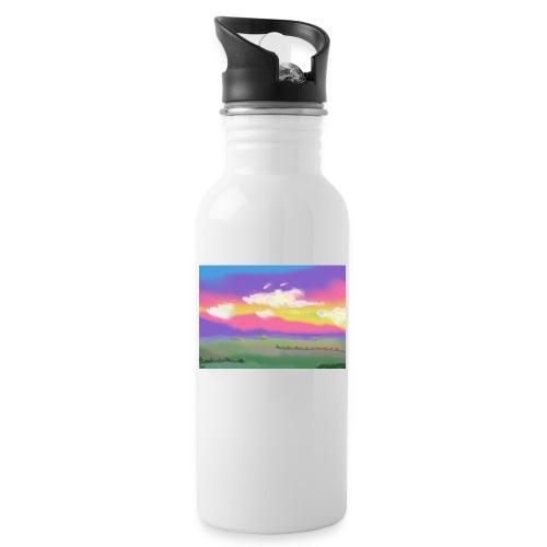 Panorama - Trinkflasche mit integriertem Trinkhalm