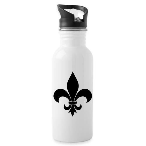 ranskan lilja - Juomapullo, jossa pilli