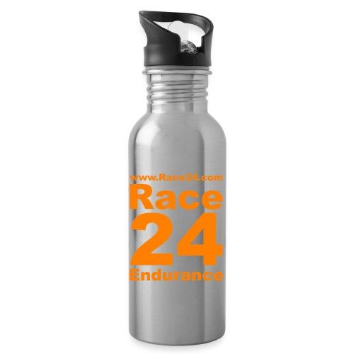 Race24 Logo in Orange - Water bottle with straw