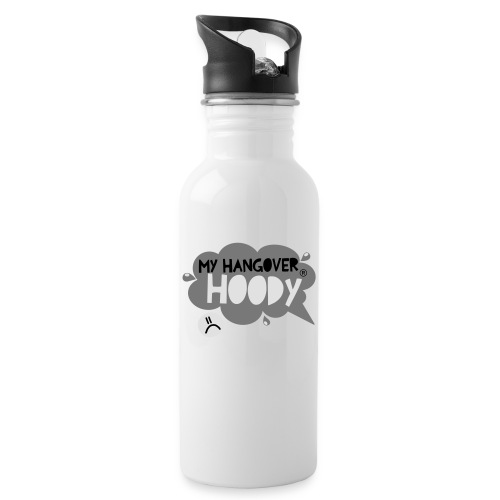 silver - Water bottle with straw