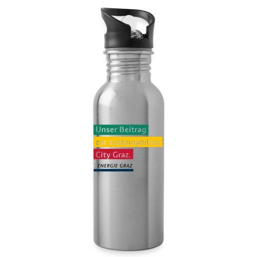 Energie Graz Vision - Trinkflasche mit integriertem Trinkhalm