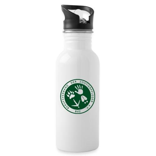 BdZ Logo - Trinkflasche mit integriertem Trinkhalm