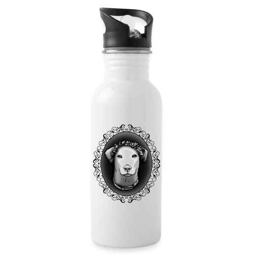 FarbPfoten by Lin - JEANNIE - Trinkflasche mit integriertem Trinkhalm