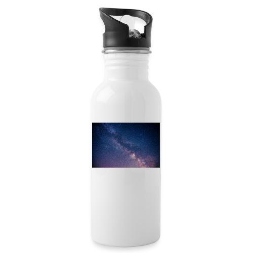 Milchstraße - Trinkflasche mit integriertem Trinkhalm