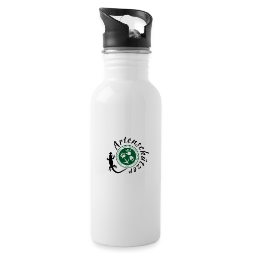 Artenschützer - Trinkflasche mit integriertem Trinkhalm