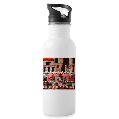 Telar Inca - Botella cantimplora con pajita integrada
