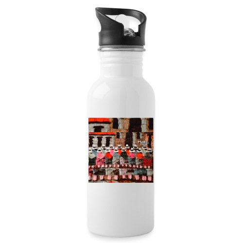 Telar inca - Trinkflasche mit integriertem Trinkhalm