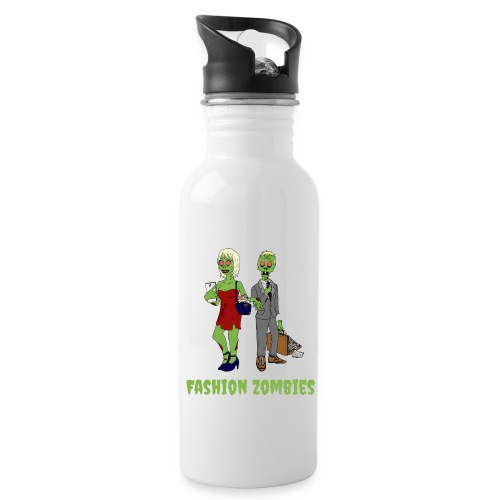 Fashion Zombie - Water bottle with straw