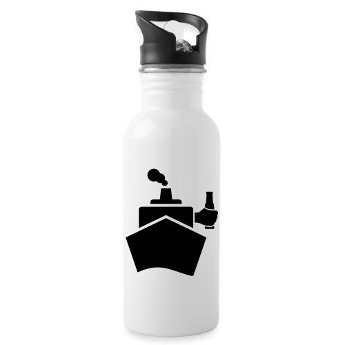 King of the boat - Trinkflasche mit integriertem Trinkhalm