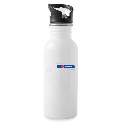 BULGEBULL TEXT - Water bottle with straw