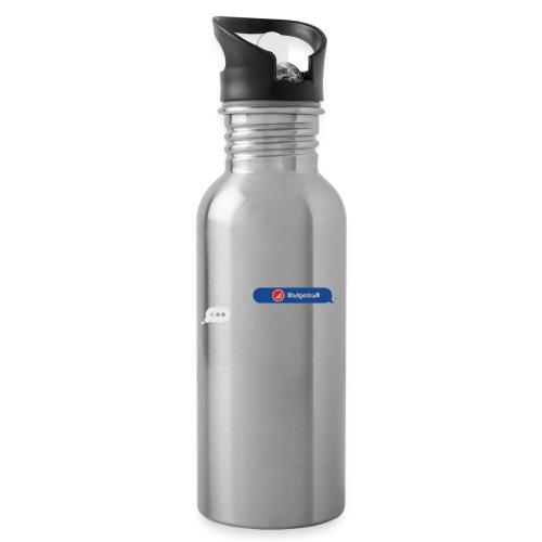 BULGEBULL TEXT - Botella cantimplora con pajita integrada
