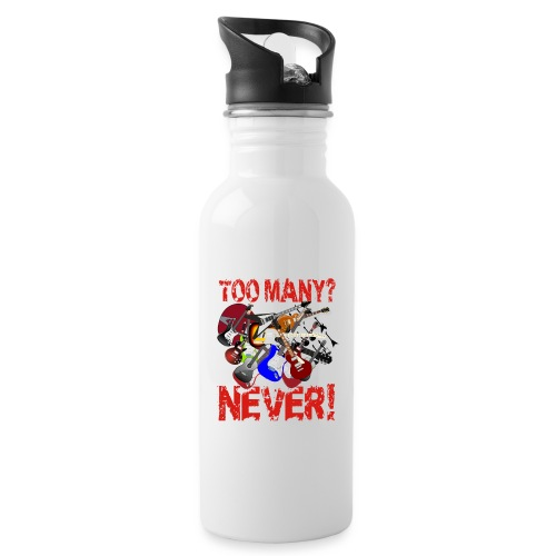 Too Many Guitars? Never! - Water bottle with straw