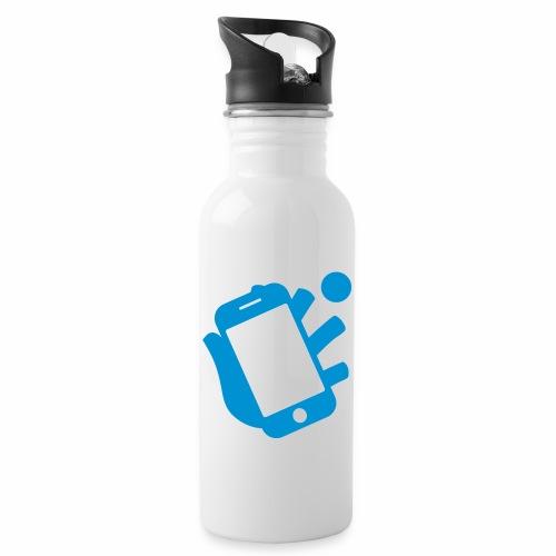 Smartphone-Tennis Logo Print - Trinkflasche mit integriertem Trinkhalm