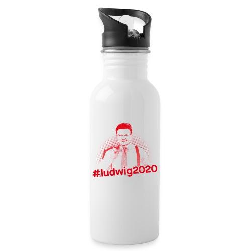 Ludwig 2020 Illustration - Trinkflasche mit integriertem Trinkhalm