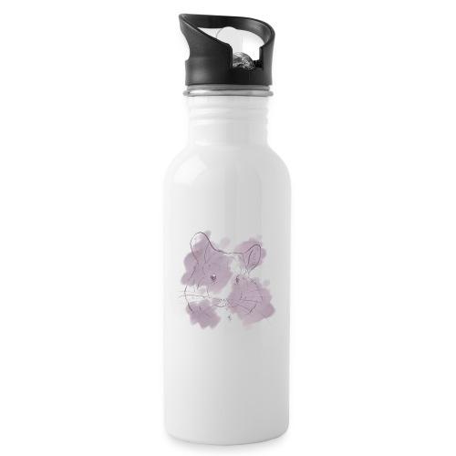 Violet splash chinchilla 2 - Juomapullo, jossa pilli