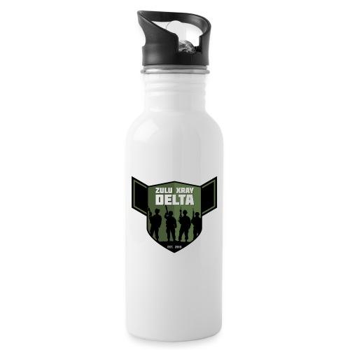 Zulu X-Ray Delta Logo - Water bottle with straw