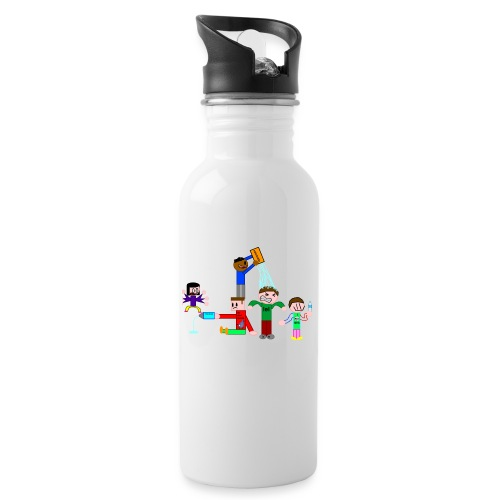 Water Fight - Water bottle with straw