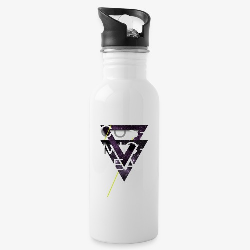 Cosmicleaf Triangles - Water bottle with straw