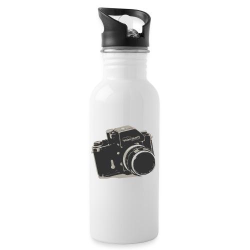 Speedyshots-Retro - Trinkflasche mit integriertem Trinkhalm