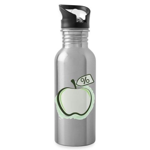 Sund på budget logo - Drikkeflaske med integreret sugerør
