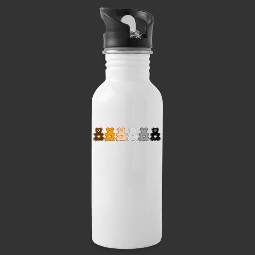 Bärenlust Regen-Bären-Bogen Bären-Reihe - Trinkflasche mit integriertem Trinkhalm
