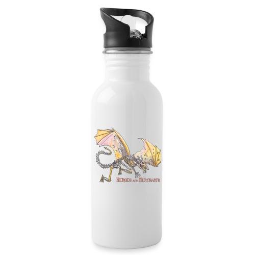 Bonedragon - Trinkflasche mit integriertem Trinkhalm
