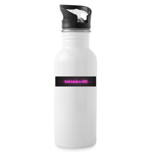 Satnavboy100 Shirt - Water bottle with straw