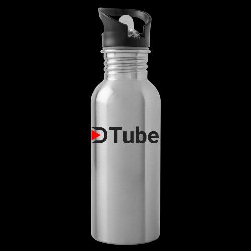 DTube logo - Trinkflasche mit integriertem Trinkhalm