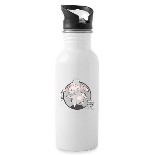 FF WOLLE 02 - Trinkflasche mit integriertem Trinkhalm