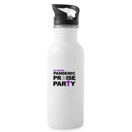Pandemic Praise Party Logo - Water bottle with straw