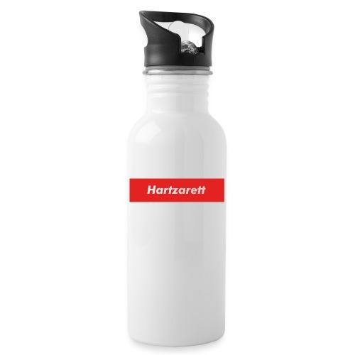 Hartzarett Boxed Logo - Trinkflasche mit integriertem Trinkhalm