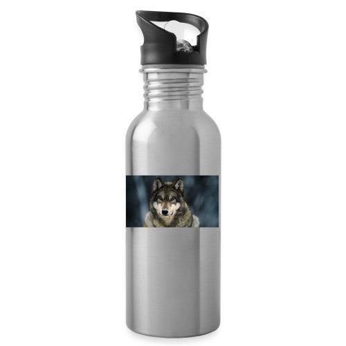 wolf shirt kids - Drinkfles met geïntegreerd rietje