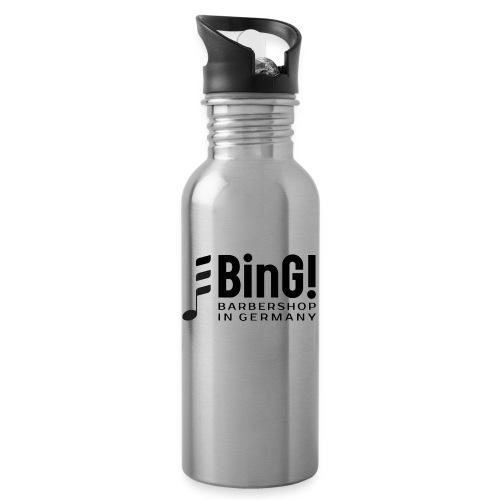 BinG Logo - Trinkflasche mit integriertem Trinkhalm