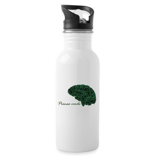 Piensa verde - Botella cantimplora con pajita integrada