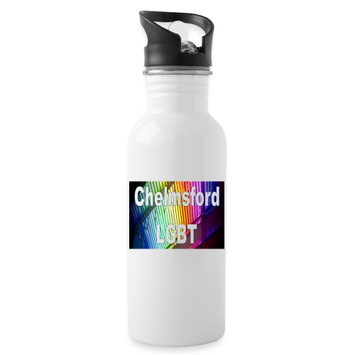 Chelmsford LGBT - Water bottle with straw