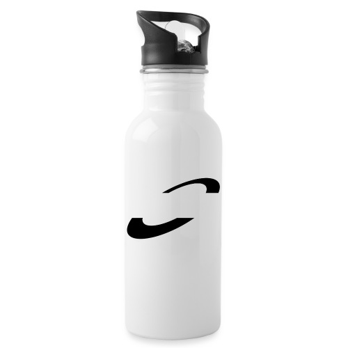 Planet Cycling Icon Black - Water bottle with straw