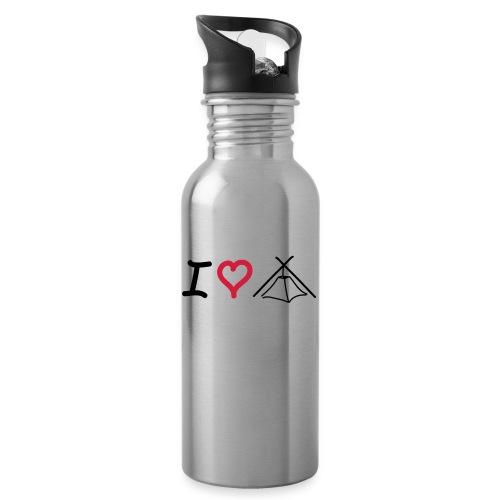 I love Kothe - Trinkflasche mit integriertem Trinkhalm