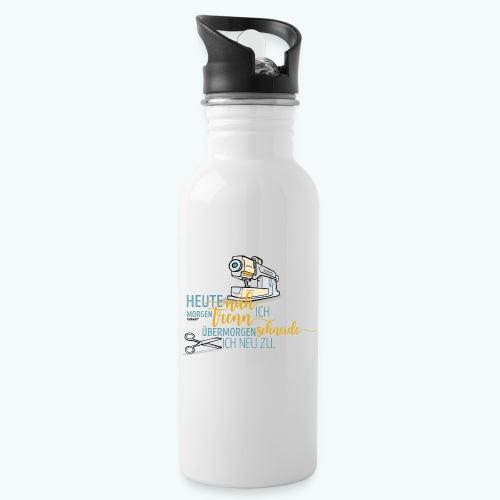 Nähen Schneidern Frauen Spruch Handarbeit - Trinkflasche mit integriertem Trinkhalm