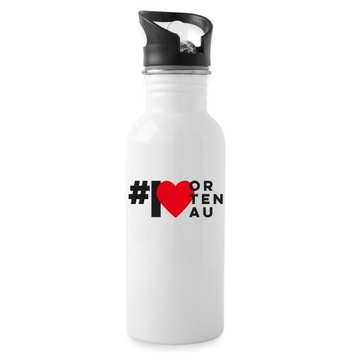 # I LOVE ORTENAU - Trinkflasche mit integriertem Trinkhalm