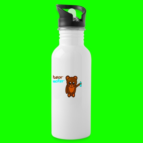 bearwater2 png - Water bottle with straw