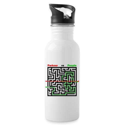 Parkour Maze parkour vs people - Drikkeflaske med integreret sugerør