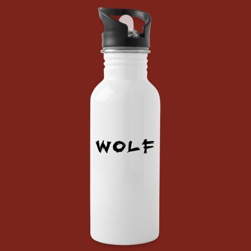 Wolf Font png - Drinkfles met geïntegreerd rietje