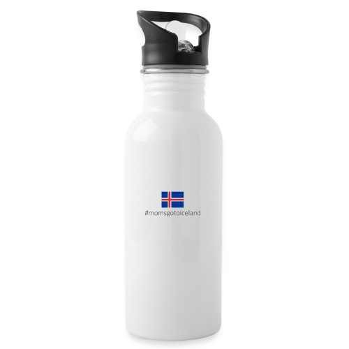 Iceland - Water bottle with straw
